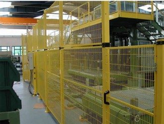 Cloison grillagée industrielle réglable en hauteur - Devis sur Techni-Contact.com - 1