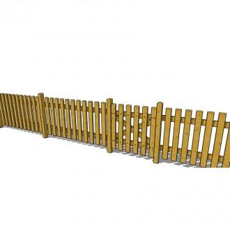 Clôture bois en pin traité - Devis sur Techni-Contact.com - 3