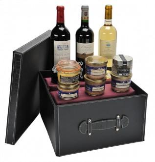 Coffret cadeau à 3 bouteilles de vin luxe - Devis sur Techni-Contact.com - 1