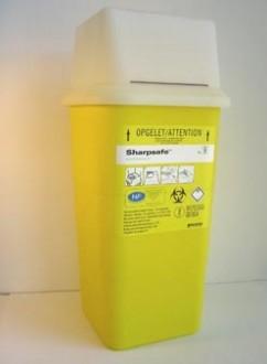 Collecteur d'aiguille usagé Sharpsafe 7 litres - Devis sur Techni-Contact.com - 1