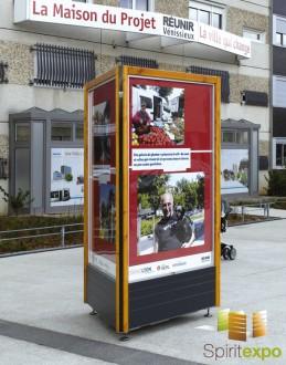 Colonne affichage vitrines exterieur - Devis sur Techni-Contact.com - 1