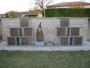Columbarium en forme de colonnes avec jardin du souvenir - Devis sur Techni-Contact.com - 4