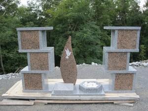 Columbarium en forme de colonnes avec jardin du souvenir - Devis sur Techni-Contact.com - 5