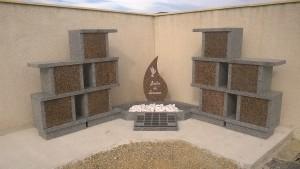 Columbarium en forme de colonnes avec jardin du souvenir - Devis sur Techni-Contact.com - 6