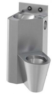 Combiné toilettes au sol et lavabo antivandalisme - Devis sur Techni-Contact.com - 1