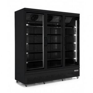 Vitrine réfrigérée positive 3 portes vitrées noire - Devis sur Techni-Contact.com - 1