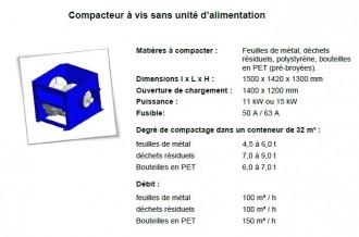 Compacteur à vis emballage plastique - Devis sur Techni-Contact.com - 3