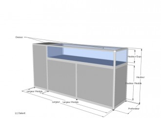 Comptoir caisse sur mesure - Devis sur Techni-Contact.com - 2