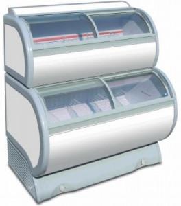 Conservateur à glace vitré double niveau - Devis sur Techni-Contact.com - 2