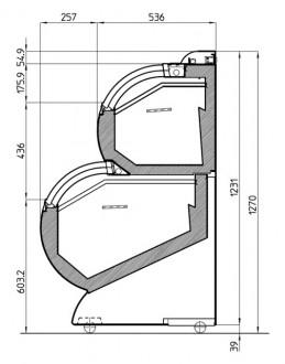 Conservateur à glace vitré double niveau - Devis sur Techni-Contact.com - 3