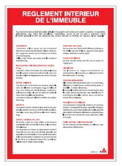 Consigne règlement intérieur d'immeuble - Devis sur Techni-Contact.com - 1