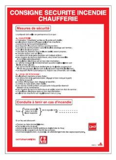 Consigne sécurité incendie chaufferie - Devis sur Techni-Contact.com - 1