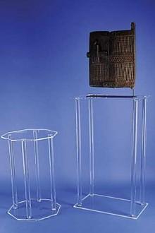 Console plexi sur mesure pieds ronds - Devis sur Techni-Contact.com - 1