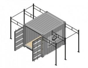 Container crossfit 2 Rigs pour entraînement extérieur - Devis sur Techni-Contact.com - 1