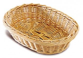 Corbeille à pain ovale en osier - Devis sur Techni-Contact.com - 1