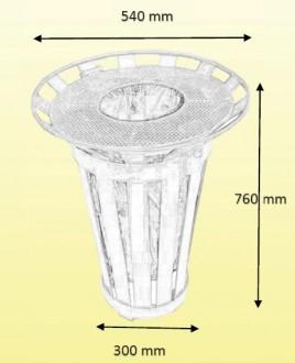 Corbeille acier extérieure - Devis sur Techni-Contact.com - 3