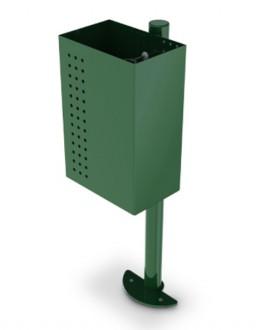 Corbeille acier sur poteau cylindrique - Devis sur Techni-Contact.com - 1