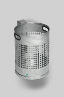 Corbeille acier tubulaire ou murale - Devis sur Techni-Contact.com - 1