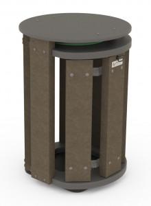 Corbeille de ville 70L en plastique recyclé - Devis sur Techni-Contact.com - 2