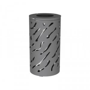 Corbeille de propreté acier 80 L - Devis sur Techni-Contact.com - 1
