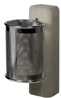 Corbeille de ville métal sur socle - Devis sur Techni-Contact.com - 1