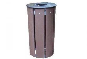 Corbeille de ville ronde 70 litres - Devis sur Techni-Contact.com - 1