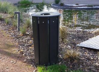 Corbeille de ville ronde 70 litres - Devis sur Techni-Contact.com - 2