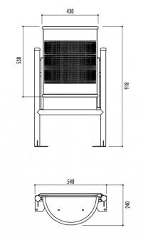 Corbeille demi ronde acier - Devis sur Techni-Contact.com - 3