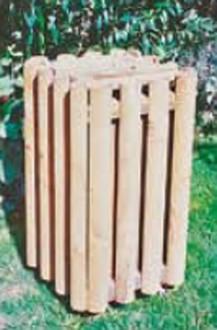 Corbeille extérieur bois - Devis sur Techni-Contact.com - 1