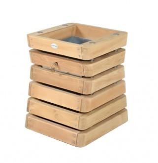 Corbeille extérieure en bois 60 L - Devis sur Techni-Contact.com - 1