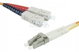 Cordon duplex en fibre multimode 3 m - Devis sur Techni-Contact.com - 1