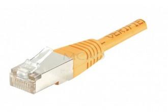 Cordon RJ45 Orange 0,30 m - Devis sur Techni-Contact.com - 1