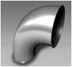 Coude embouti galvanisé 90° - Devis sur Techni-Contact.com - 1