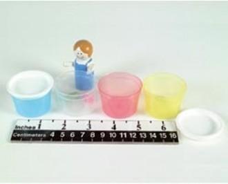 Coupelle transparent graduée avec couvercle - Devis sur Techni-Contact.com - 1