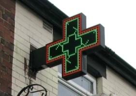 Croix de pharmacie à LED couleur - Devis sur Techni-Contact.com - 1