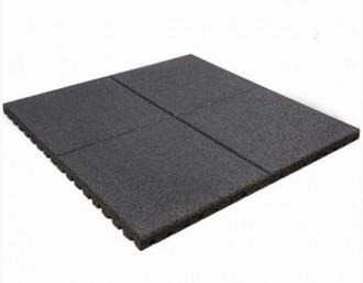 Dalle de protection de sol sportif en grains de gomme - Devis sur Techni-Contact.com - 1