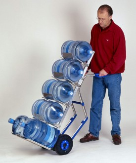 Diable manuel en aluminium pour bonbonnes d'eau - Devis sur Techni-Contact.com - 1