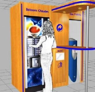 Distributeur automatique de boissons chaudes ou froides - Devis sur Techni-Contact.com - 1