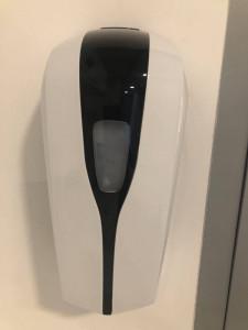 Distributeur automatique de désinfectant pour les mains Noir et blanc - Devis sur Techni-Contact.com - 1