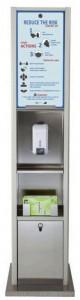 Distributeur de gel hydroalcoolique avec stérilisateur masque  - Devis sur Techni-Contact.com - 2