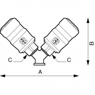 Distributeur fixe femelle à 2 directions - Devis sur Techni-Contact.com - 2