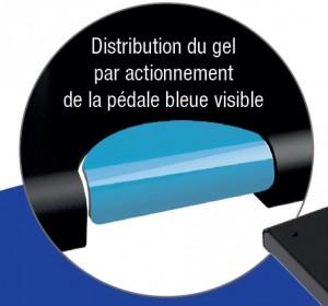 Distributeur de gel hydroalcoolique commande à pédale - Devis sur Techni-Contact.com - 2