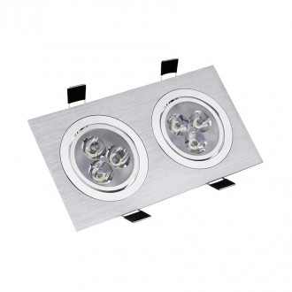 Downlight encastré rectangle aluminium - Devis sur Techni-Contact.com - 1