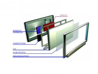 Ecran intelligent LCD pour agence immobiliere - Devis sur Techni-Contact.com - 2