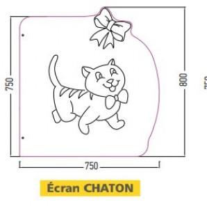 Ecrans urinoirs enfants forme chaton - Devis sur Techni-Contact.com - 1