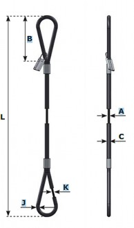 Élingue à câble en acier - Devis sur Techni-Contact.com - 1