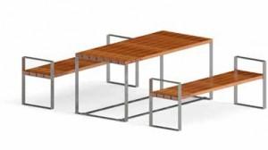 Ensemble table et bancs 1800 mm - Devis sur Techni-Contact.com - 1