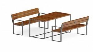 Ensemble table et bancs 1800 mm - Devis sur Techni-Contact.com - 2