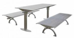 Ensemble table et bancs 1970 mm - Devis sur Techni-Contact.com - 1
