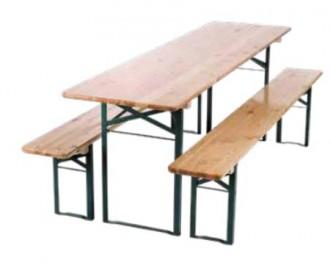 Ensemble table et bancs pliants - Devis sur Techni-Contact.com - 1